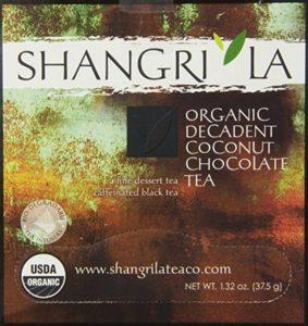 Shangri La Tea Company Organic Tea Sachet, Coconut Chocolate