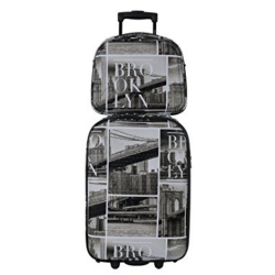 DAVID JONES Upright Carry-on Luggage Set