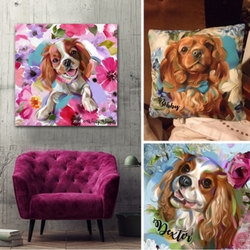 Custom pet art work
