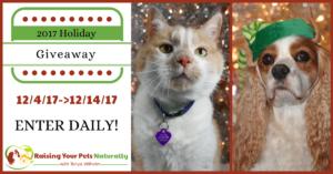 Natural Pet Holiday Blog Giveaway Pet Contest 2017
