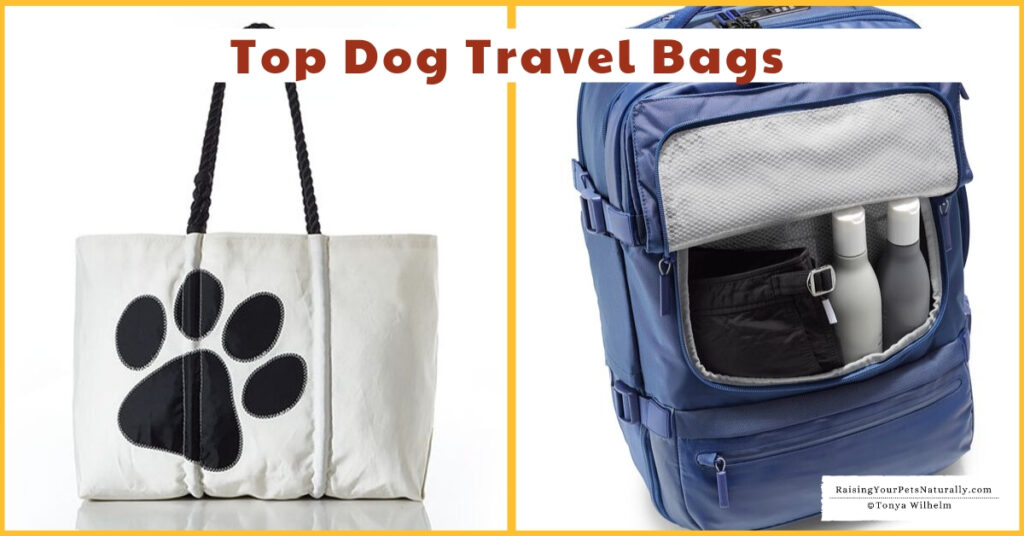 Dog backpack and travel organizers